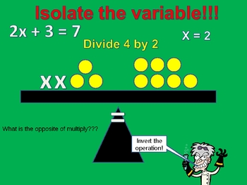 An introduction to solving one step equations