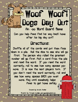 An -oo Word Pattern Activity Pack
