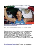 Spanish 2, 3, 4, or AP Webquest: Mexican Olympic Sprinter Ana Guevara
