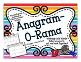 Literacy Center - Word Building with Anagrams