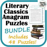 Anagram Reading Puzzles: Classic Literature BUNDLE