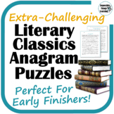 Anagram Reading Puzzles from Classic Literature: Extra-Cha