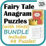 Anagram Reading Puzzles (with Hints): Fairy Tales BUNDLE