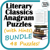 Anagram Reading Puzzles (with Hints): Classic Literature BUNDLE