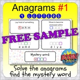 Anagrams 1 (BOOM CARDS distance learning - 4-letter anagra