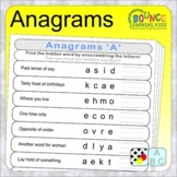 Anagrams (19 distance learning worksheets for Literacy)