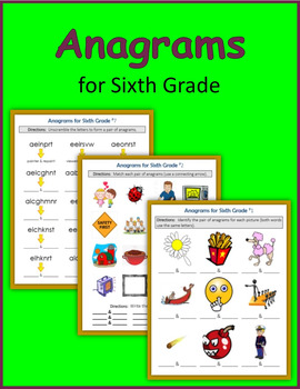 Anagrams for Sixth Grade