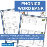 Phonics Word Bank | Phonics is Jolly Fun!