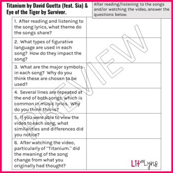Analazying Pop Song Lyrics