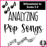 Analazying Pop Song Lyrics