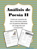 Análisis de poesía- II