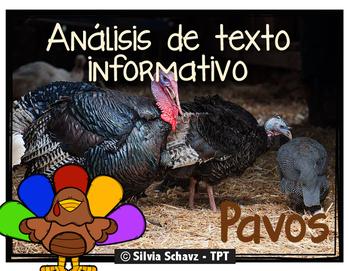 Análisis de texto informativo - Los pavos