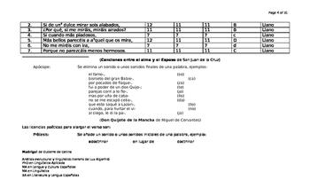 Análisis estructural y lingüística-literaria de Ojos claros, serenos de Cetina