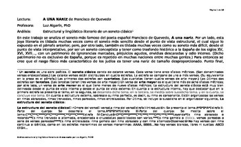 Análisis estructural y lingüístico-literario de A una nari