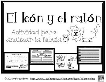 Analizar Fábula: El león y el ratón / Analyzing Fable: The Lion and the Mouse