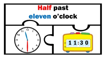 Analog And Digital Clock Match Telling Time Math Centers stations work