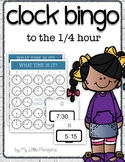 Analog Clock Bingo to the 1/4 hour-What time is it?