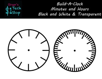 Analog Clock * Blank Template * { Learn to Tell Time! }