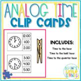 Analog Clock Clip Cards - Special Education #instacelebration