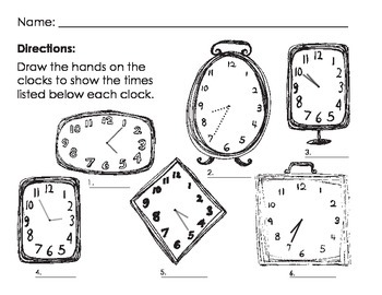 Analog Clock Exercises