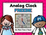 Analog Clock FREEBIE {great for teaching time}