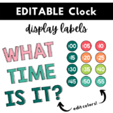 Analog Clock Labels   Learn to Tell Time Labels