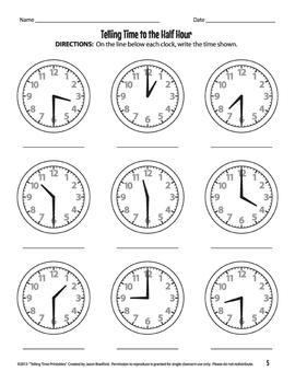 Analog Clock Practice Worksheets / Printables by Jason ...