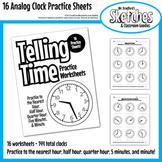 Analog Clock Practice Worksheets / Printables