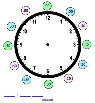 Analog Clock SmartBoard File