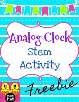 Analog Clock Stem Activity