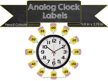 Analog Clock Time Labels