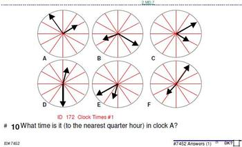 Grade 2-5: Analog Clock + elapsed time (sets of 25, 20, 15 & 10 probs per skill)