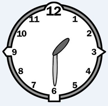 Analog Clock for every 15 minutes