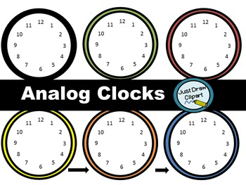 Analog Clocks Clip Art