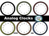 Analog Clocks Clip Art