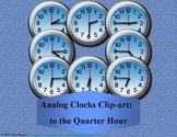 Analog Clocks Clip-art: to the Quarter Hour