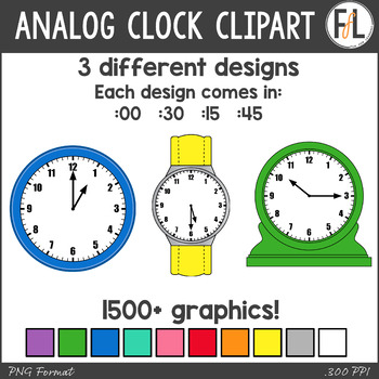 Analog Clocks Clipart
