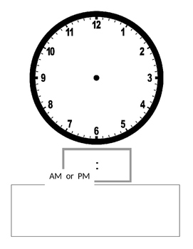 Analog/Digital Clock AM PM