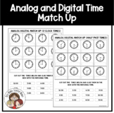 Analog Digital Clocks Match Up Activities