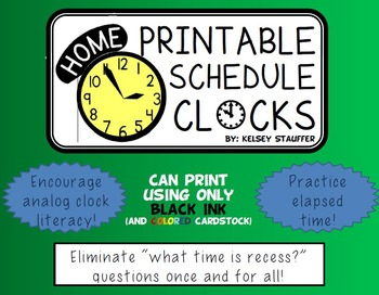 Analog Schedule Clock Posters