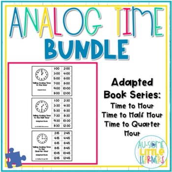 Analog Time Adapted Books Bundle - Special Education