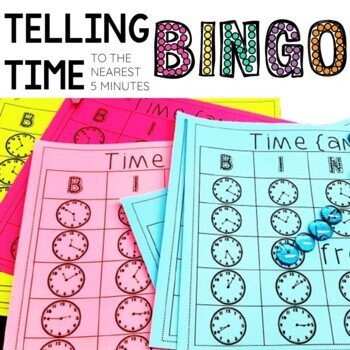 Analog Time Bingo Boards {to 5 minutes}: A Class Set