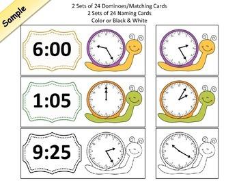 Analog Time Clock Matching Games