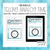 Analog Time Digital Task Cards Bundle for Distance Learnin