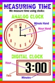 Analog and Digital Clock Poster - Measuring Time