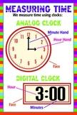 Analog and Digital Clock Poster - Measuring Time