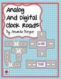 Analog and Digital Clock Roads