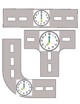 Analog and Digital Clock Roads