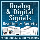 Analog and Digital Signals Activity Text Worksheet and Graphing NGSS MS-PS4-3