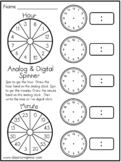 Time - Analog and Digital Clocks - Spinner Activity